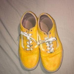 Yellow Sunshine ombré low top vans. (CUSTOM)